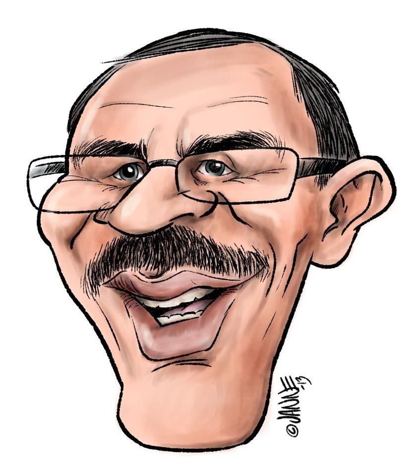 karikatyyri Eero Wetzellistä